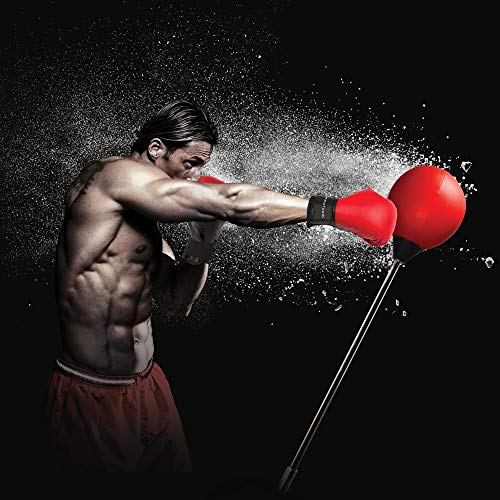 Protocol All-in-One Boxing Set | Punching Ball with Adjustable Height Stand That Withstands Tough Beatings| Includes Jump Rope, Comfortable Boxing Gloves, and Inflation Pump | Great Value by Protocol (Image #6)