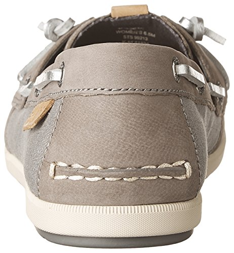 Women's Sider Sperry Ivy Coil Top Shoe Grey Canvas Leather Boat 5r5FwEIq