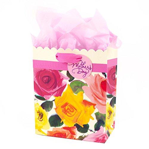 Design Scalloped Satin (Hallmark 5WDB2101 Bag with Tissue, Medium, Scalloped Floral)