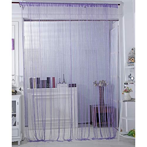 Norbi Vogue Tassel String Door Window Room Divider Partition Curtain Valance (Light Purple) (Nba String Lights)