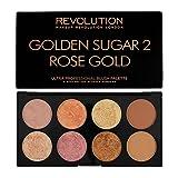 Makeup Revolution Rouge Palette Golden Sugar 2 Rose Gold