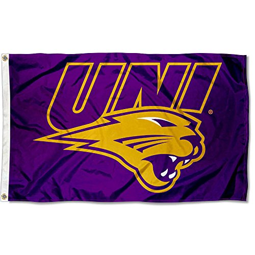 (College Flags and Banners Co. Northern Iowa Panthers UNI Logo Flag)