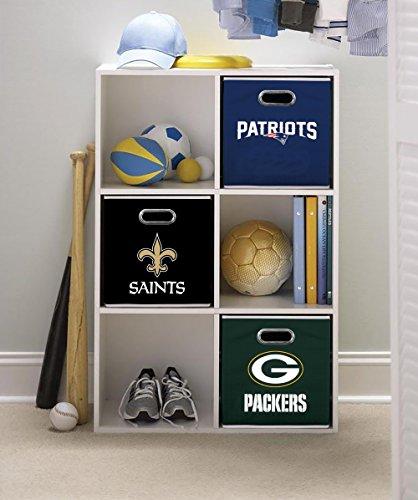 Franklin Sports NFL Team Fabric Storage Cubes - Made to Fit Storage Bin Organizers (11x10.5x10.5)