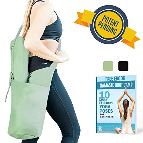 RIMSports Yoga Mat Bags for Women - Lightweight Yoga Carrier with Hoodie - Ideal for Yoga Accessories & Yoga Gear - Large Yoga Mat Carrier Bag- Best Yoga Mat Holder (Olive Green)