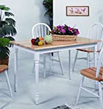Windsor Solid Top Table 30x48 White/Natural by Crown Mark