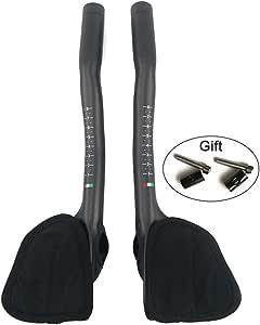 RXL SL Areo Bars Bike Handlebar Bullhorn Handlebars Carbon Aero Bars Black 3K Glossy 31.8340mm Triathlon Aero Bars