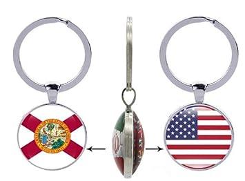 AccessCube - Llavero de Cristal con diseño de la Bandera del ...