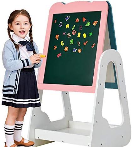 おもちゃイーゼル 製図板アートイーゼル子供がイーゼル木製高さ調節可能な立ち安定絵画両面 安定したデザインと健康的な素材 (色 : One color, Size : One size)