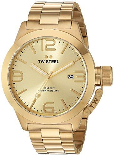 TW Steel Men's CB102 Analog Display Quartz Gold Watch