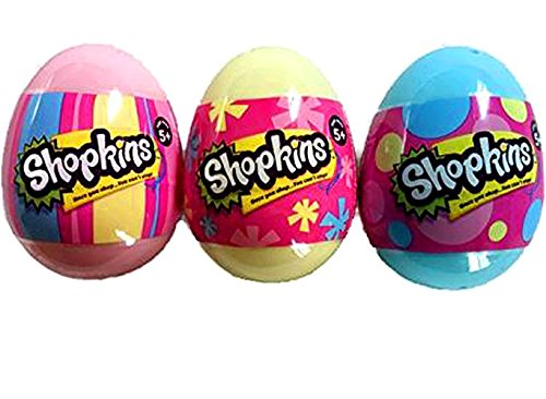 Shopkins Easter Eggs Set of 3 Eggs - 2 Shopkins in each Egg