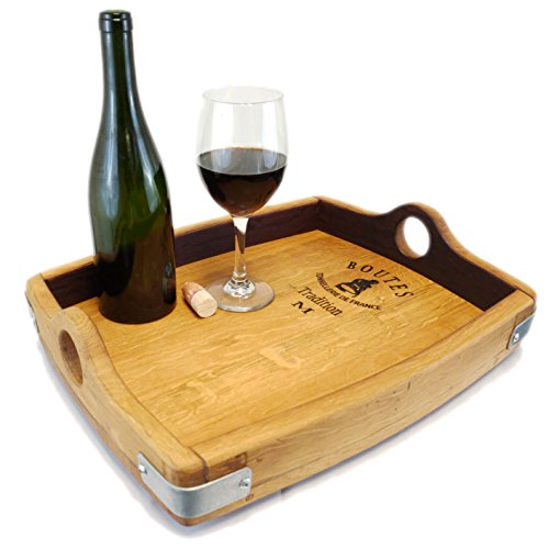 Wine Barrel Bung Stave Handles Serving Tray Wine Barrel Furniture Rustic Furniture Gift Central Coast Creations
