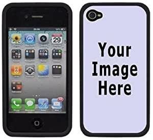 Your Photo Any Image Logo Design Custom Handmade iPhone 4 4S Black Bumper Plastic Case