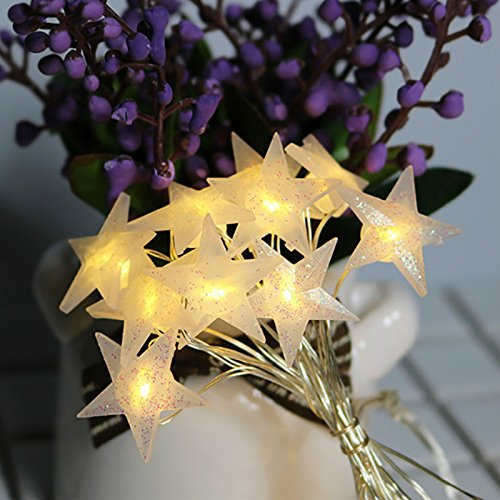 Sunsbell 20 LEDs Star LED Photo Clips String Lights Battery Operated Wall Fairy String Lights for Bedroom Hanging Photos 2.3M Cards and Artworks
