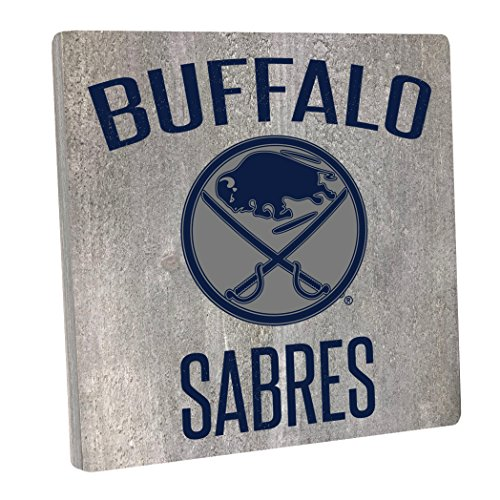 "Rustic Marlin Designs NHL Buffalo Sabres,Gray, Vintage Square, 12"" H X 12"" W"