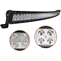 Curved 50inch 288W CREE LED Light Bar Spot Flood Combo Beam Off-road 10-30V Vehicle- Free Waterproof On/Off Switch Wiring Harness