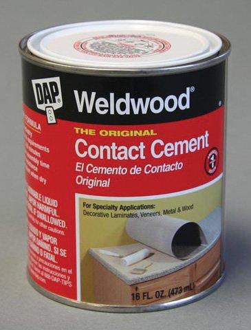 DAP CC20 Weldwood Original Contact Cement, 16 oz Can, Tan