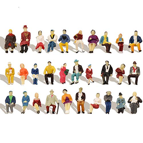 (P8711 60pcs HO Scale 1:87 All Seated People Sitting Figures Passengers Model Desktop Decoration)