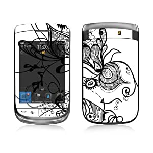 Diabloskinz B 0039-0004-0053 Etched Flowers White Skin para Blackberry Torch 9800-series