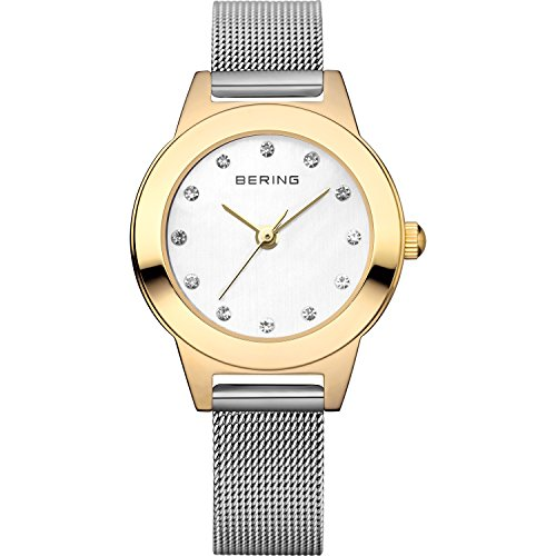 BERING Time 11125-010 Women's Classic Collection Watch with Mesh Band and scratch resistant sapphire crystal. Designed in Denmark.