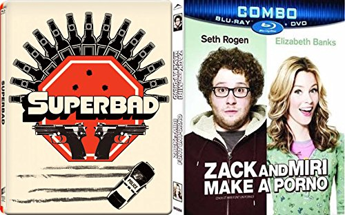 Superbad Steelbook + Zack & Miri Make a Porno Comedy Blu Ray Set 2 Movies