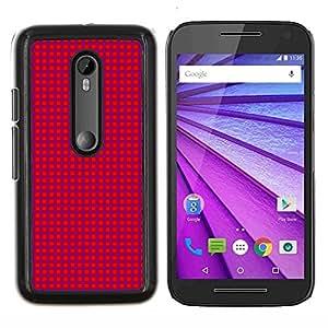 EJOOY---Cubierta de la caja de protección para la piel dura ** Motorola MOTO G3 / Moto G (3nd Generation) ** --Textura Pink Dots