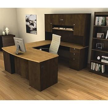 Amazon Com Manhattan U Shaped Computer Desk With Hutch