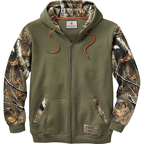 Legendary Whitetails Mens Mountain Peak Full Zip Hoodie Army Small