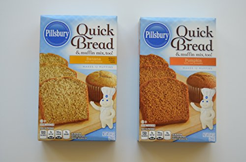 Pillsbury Quick Bread Mixes Bundle of Two ~ One Each, Banana & Pumpkin ()