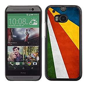 Shell-Star ( National Flag Series-Seychelles ) Snap On Hard Protective Case For All New HTC One (M8)