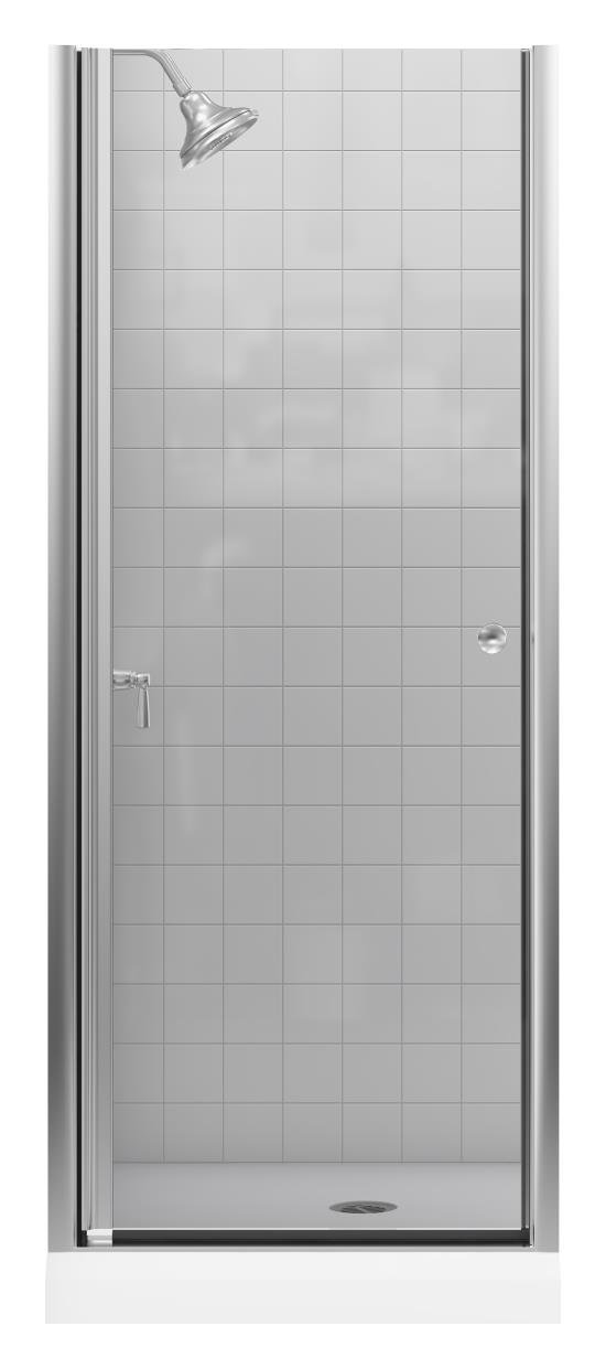 KOHLER K-702400-L-MX Fluence Frameless Pivot Shower Door, Matte Nickel