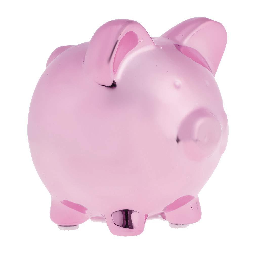 9.9x8.4x9.7cm Pink Prettyia Ceramic Money Box Pots Savings Fund Save Coins Piggy Bank for Children