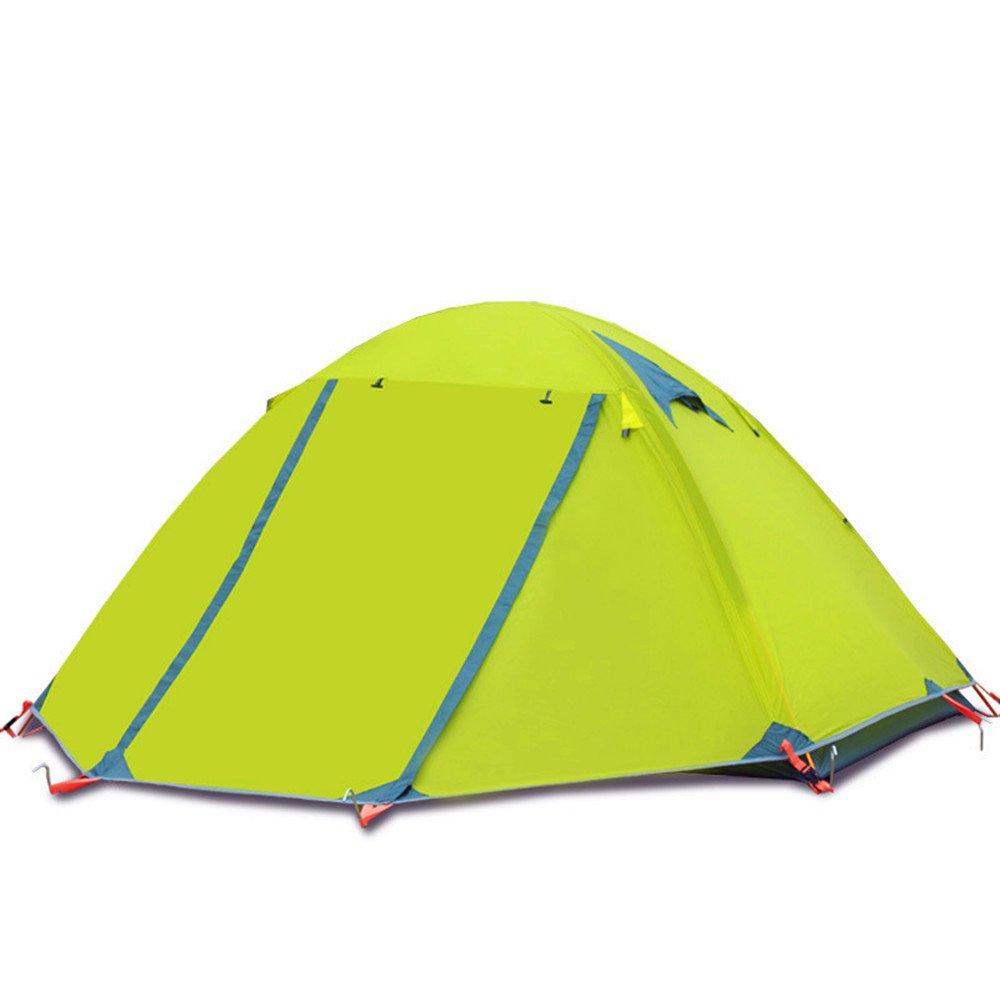 TLMY Camping Camping Zelt Outdoor Doppel 3-4 Doppel-Aluminium-Pole wild Winddicht Sturm Regen wasserdicht Zelt Zelte