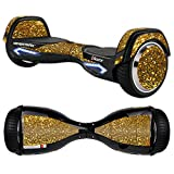 MightySkins Protective Vinyl Skin Decal for Razor Hovertrax 2.0 Hover Board Self-Balancing Smart Scooter wrap cover sticker skins Gold Glitter