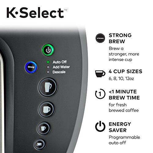 Keurig K-Select Single-Serve K-Cup Pod Coffee Maker with 12oz Brew Size, Strength Control, Matte Black by Keurig (Image #5)