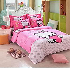 Hello Kitty 4 Piece Bed In A Bag Bedding Set