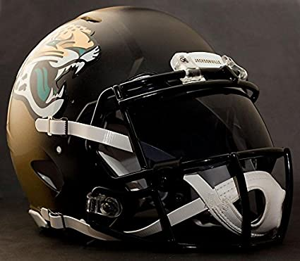 5ee5b09a01053 Riddell Speed JACKSONVILLE JAGUARS NFL REPLICA - Casco de fútbol con escudo  de ojo visera