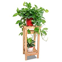 Solid Wood Flower Rack, Multi-Tier, Collocation Is Used,Indoor And Outdoor Flower Pot Rack ( Size : B-60cm )
