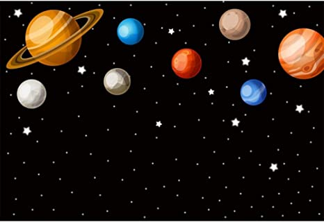 Universe Outer Space Birthday Banner Party Decoration Backdrop