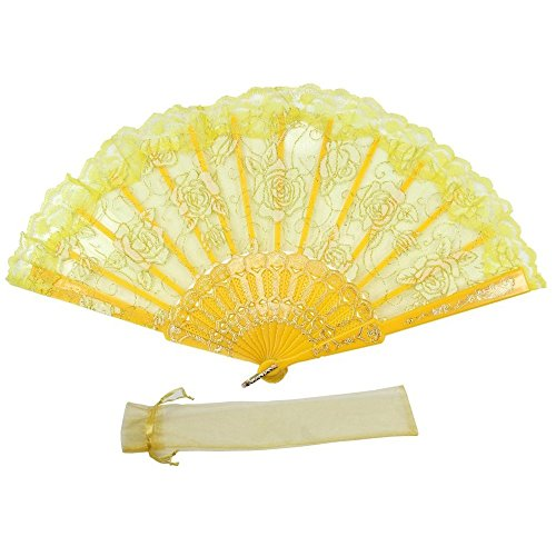 yellow folding fan - 3