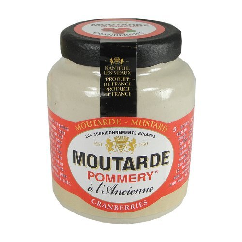 Pommery Mustard Meaux Moutarde in Pottery Crock with Cranberries (3 PACK) by Pommery