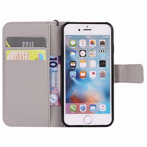 Custodia Apple iPhone 6s Plus (5.5) Cover Case, Ougger Portafoglio PU Pelle Magnetico Stand Morbido Silicone Flip Bumper Protettivo Gomma Shell Borsa Custodie con Slot per Schede, Torre Eiffel