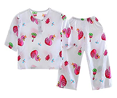 LLIOFUS Little Boys$Girls 2ps Snug-fit Pajamas Cotton Pants Kid pjs set-002