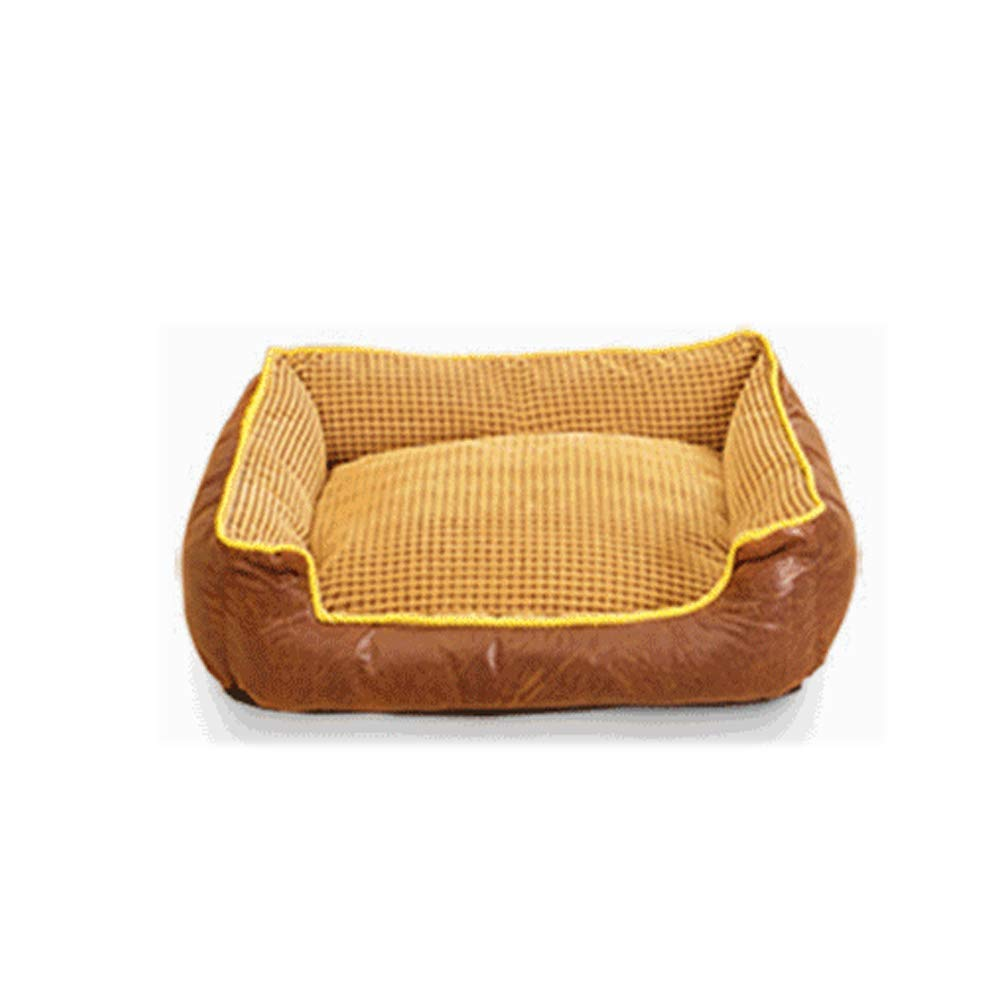 Brown XXL Brown XXL Gperw Dog Bed Pet Blankets Waterproof For Pet Non Slip Cushion Pad (color   Brown, Size   XXL)