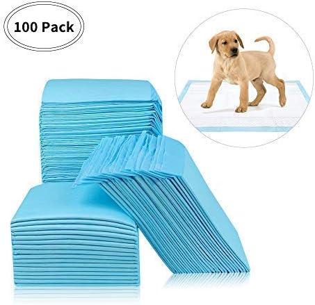 RCruning-EU Empapadores Perros Toallitas de Entrenamiento para Mascotas 33 cm x 45 cm 100 Unidades