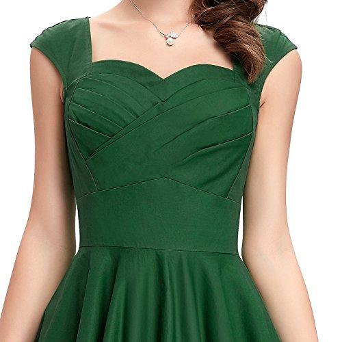 Belle Chérie Robes Swing Rétro Des Années 50 Pour Les Femmes (multicolore) Vert