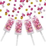 4 Pack Push Pop Confetti Poppers, Wedding