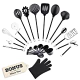 golden chef premium 22 piece stainless steel  silicone cooking utensils home kitchen tools and gadgets set includes measuring cups spoons and free silicone glove