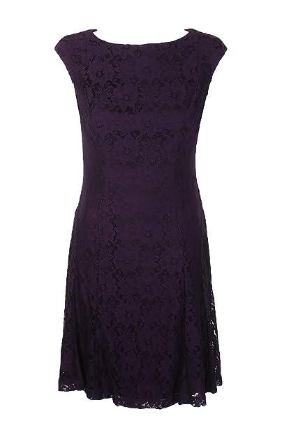 0de269998ee American Living $99 Womens New 1235 Purple Floral Lace Shift Dress 6 ...