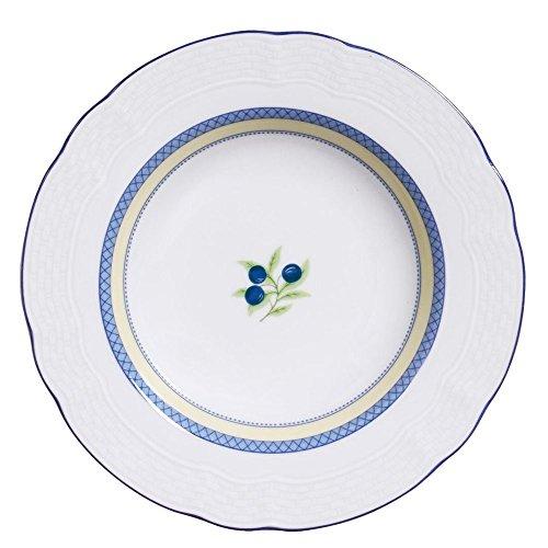 Prato fundo de porcelana Adriatico Verbano azul 23 cm - 12798