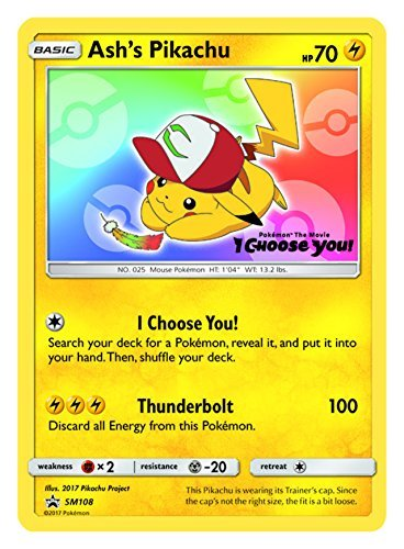 Ash's Pikachu - SM108 - Promo - SM Black Star Promos